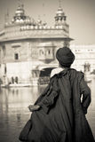 A Sikh devotee of The Golden Temple of Amritsar, Punjab, India Royalty Free Stock Images