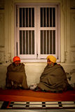 Sikh devotees of The Golden Temple of Amritsar, Punjab, India Stock Photo