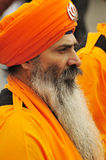 Sikh devotees take part to Baisakhi procession Stock Photography