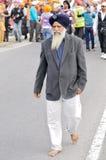 Sikh devotees take part to Baisakhi procession Royalty Free Stock Photos