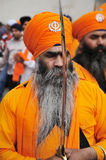 Sikh devotees take part to Baisakhi procession Royalty Free Stock Photography