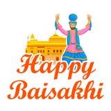 Sikh doing Bhangra, folk dance of Punjab, India Stock Image