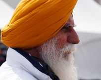 Sikh Gentleman Celebrating Vaisakhi Royalty Free Stock Image