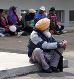 Sikh Gentleman Celebrating Vaisakhi Stock Photography