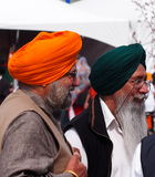 Sikh Gentlemen Celebrating Vaisakhi. Sikh gentlemen celebration Vaisakhi May 18 Edmonton Alberta royalty free stock images