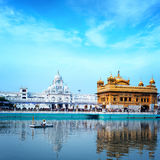 Sikh golden palace in India. Indian temple Royalty Free Stock Image