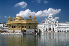 Sikh Golden Temple in Amritsar. Golden Temple in Amritsar, Punjab India. The most important place for all Sikhs Royalty Free Stock Image