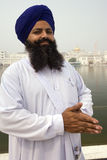 Sikh at the Golden Temple of Amritsar - India Royalty Free Stock Photo