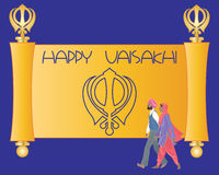 Sikh greeting card Royalty Free Stock Photo