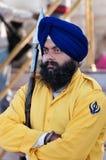 Sikh guard at Golden Temple. Amritsar. India Stock Photo