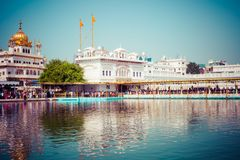 Sikh gurdwara Golden Temple (Harmandir Sahib). Amritsar, Punjab, India Royalty Free Stock Image