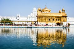 Sikh gurdwara Golden Temple (Harmandir Sahib). Amritsar, Punjab, India Stock Photography