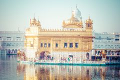 Sikh gurdwara Golden Temple (Harmandir Sahib). Amritsar, Punjab, India Royalty Free Stock Images