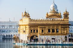 Sikh gurdwara Golden Temple (Harmandir Sahib). Amritsar, Punjab, India Royalty Free Stock Photo
