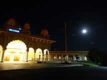 Sikh Gurdwara, San Jose at night, California, USA Stock Images