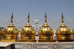 Sikh holy Golden Temple in Amritsar, Punjab, India. The Harmandir Sahib, also Darbar Sahib and informally referred to as the Golden Temple, is the holiest Sikh Royalty Free Stock Photography