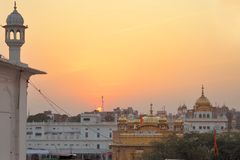 Sikh holy Golden Temple in Amritsar, Punjab, India Royalty Free Stock Photos