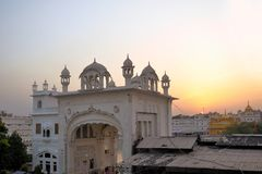Sikh holy Golden Temple in Amritsar, Punjab, India Royalty Free Stock Image