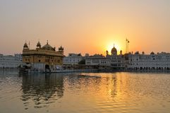 Sikh holy Golden Temple in Amritsar, Punjab, India. The Harmandir Sahib, also Darbar Sahib and informally referred to as the Golden Temple, is the holiest Sikh Stock Image