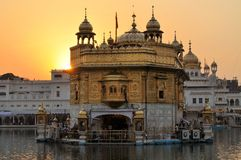Sikh holy Golden Temple in Amritsar, Punjab, India. The Harmandir Sahib, also Darbar Sahib and informally referred to as the Golden Temple, is the holiest Sikh Stock Photography