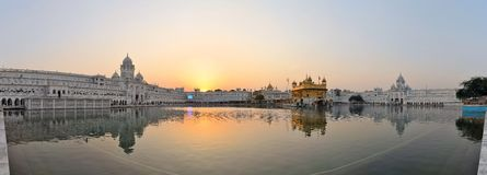 Sikh holy Golden Temple in Amritsar, Punjab, India. The Harmandir Sahib, also Darbar Sahib and informally referred to as the Golden Temple, is the holiest Sikh Stock Photos