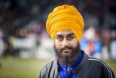 Sikh- kampsportaktör Royaltyfri Foto