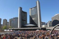 Sikh- Khalsa dag i Toronto Arkivbild