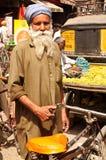 Sikh Man. A Sikh rickshaw puller form the state of Punjab Royalty Free Stock Images