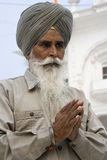 Sikh man at the Akal Takht - Amritsar - India stock photo