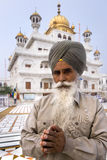 Sikh man at the Akal Takht - Amritsar - India royalty free stock photos