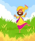Sikh man doing Bhangra dance Stock Photo