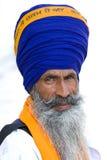 Sikh- man i Amritsar, Indien. Arkivbild