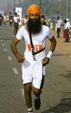 Sikh man at the marathon, delhi Royalty Free Stock Photography