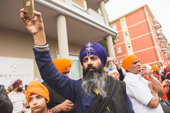 Sikh man taking part in the Vaisakhi parade Royalty Free Stock Image