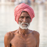 Sikh man visiting the Golden Temple in Amritsar, Punjab, India. Royalty Free Stock Photography