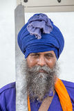 Sikh man visiting the Golden Temple in Amritsar, Punjab, India. Royalty Free Stock Photos