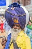 Sikh man visiting the Golden Temple in Amritsar, Punjab, India. Stock Photos