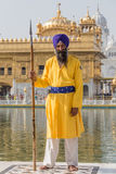 Sikh man visiting the Golden Temple in Amritsar, Punjab, India. Stock Image