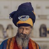 Sikh man visiting the Golden Temple in Amritsar, Punjab, India. Stock Photography