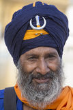 Sikh man visiting the Golden Temple in Amritsar, Punjab, India. Royalty Free Stock Photo