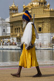Sikh man visiting the Golden Temple in Amritsar, Punjab, India. Stock Images