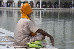 Sikh man visiting the Golden Temple in Amritsar, Punjab, India. Stock Photo