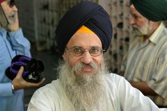 Sikh Old Man's Portrait Stock Image
