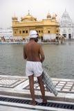 Sikh pilgrim, Amritsar, Punjab, India Stock Image
