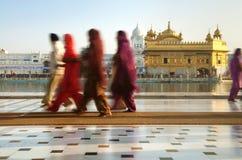 Sikh pilgrims royalty free stock images