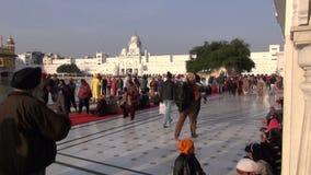 Sikh pilgrims in Golden Temple in December 16, 2012 , Amritsar, Punjab, India stock video