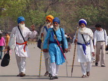 Sikh Priests in Delhi Royalty Free Stock Photography