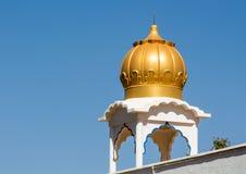 Sikh temple golden dome. S on the roof in Makindu, Kenya. Sikhism religion. Guru Singh Royalty Free Stock Images