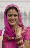 Sikh vrouw in Amritsar - India royalty-vrije stock fotografie