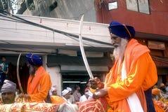 Sikh warriors, Amritsar, Punjab, India Stock Photography